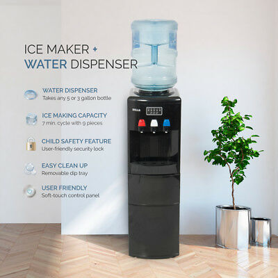 $269.97 • Buy 2in1 Electric Water Dispenser Hot / Cold Ice Maker Machine Safety Lock, 3 Colors