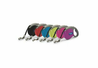 £14.49 • Buy Ancol Viva Retractable Dog Puppy Tape Lead In Black, Blue, Red, Raspberry, Teal