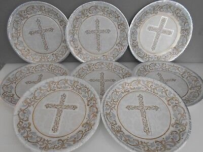 8 Pcs First Holy Communion PAPER PLATES Party Ware Table Decorations  • 2.99£