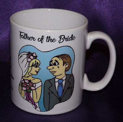 £7.99 • Buy Personalised Father Of The Bride / Groom Mug Wedding Thank You Favour Gift Idea