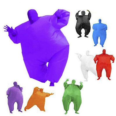 AU24.50 • Buy Inflatable Suit Fancy Dress Fan Operated Costume Fat Masked Blow Up Chub