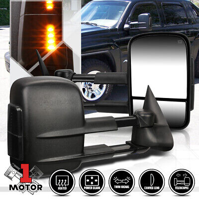 $96.68 • Buy [Pair]Power+Heated Telescoping LED Signal Towing Side Mirror For 99-02 Silverado