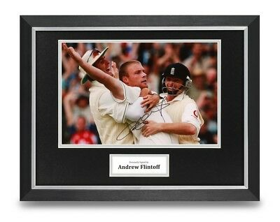 Andrew Flintoff Signed 16x12 Framed Photo Display Cricket Autograph Memorabilia • 75£