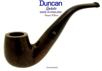 AU65.58 • Buy Duncan Briars Lindale 9mm Filter Smooth Bent Billiard Pipe B NEW Madein England