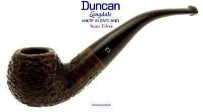 AU65.58 • Buy Duncan Briars Langdale 9mm Filter Rustic Bent Apple Pipe A NEW Made In England