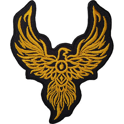 Phoenix Iron On Patch Bird Animal Biker Motorcycle Eagle Sew Embroidered Badge • 2.79£