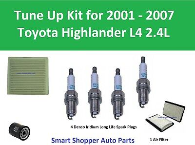 Tune Up For 2001 2002 - 2007 Toyota Highlander Spark Plugs, Oil Cabin Air Filter • 105$