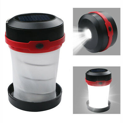 AU12.41 • Buy 3W Collapsible Portable LED Solar Camping Latern Lamp Tent Light Power Sale New