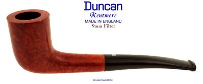 AU65.58 • Buy Duncan Briars Kentmere 9mm Filter Smooth Curved Zulu Pipe C NEW England