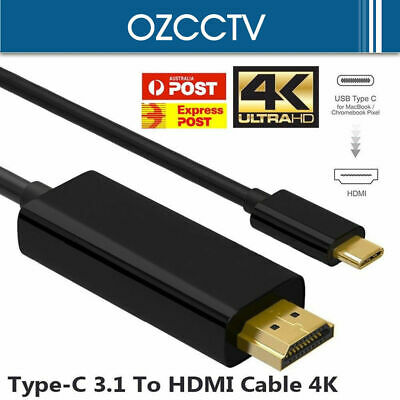 AU11.88 • Buy USB Type C To HDMI Cable USB 3.1 To HDMI 4K Cord For Samsung S8 S8+ S9 Note 8