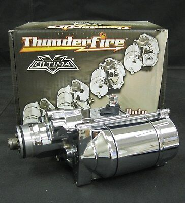 $168.99 • Buy Ultima Chrome Thunderfire 1.75kw Starter For 06-Later Dynas & 07-Later Big Twins