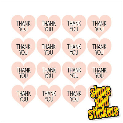 £2.75 • Buy 60 Thank You Pink Heart Shape Stickers Labels Craft Wedding Favours Diy Thankyou