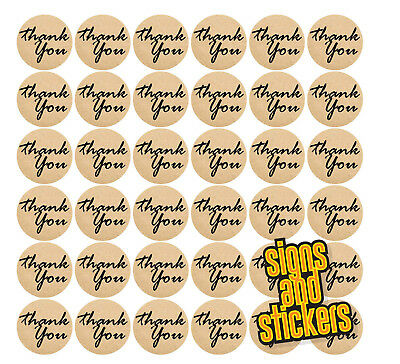 £2.75 • Buy 60 Craft Brown Thank You Stickers Labels Craft Wedding Favours Diy Thankyou 38mm