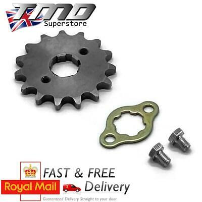 £5 • Buy 15 Tooth Front Sprocket And Bolts 17mm Spline Shaft 428 Pitch Pit Bike Pitbike