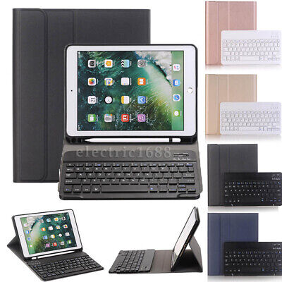 AU50.70 • Buy For IPad Pro 10.5 2017 Bluetooth Keyboard Smart Leather Case WITH Pencil Holder