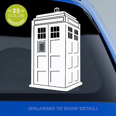 £8.66 • Buy Doctor Who TARDIS Decal - 3D Blue Police Box Tardis Sticker - For Dr. Who Fans