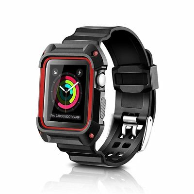 $ CDN13 • Buy Rugged Protective Case With Strap Bands For Apple Watch Series 3/2/1
