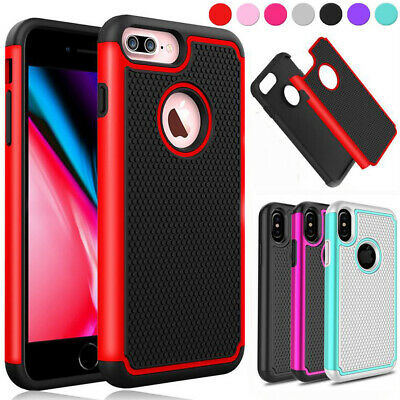 AU5.99 • Buy IPhone X XS MAX XR 8 7 6S Plus 5S SE Heavy Duty Shockproof Cover Case For Apple