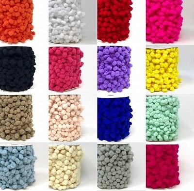 Bertie's Bows 15mm Pom Pom (10mm Bauble) - Sold By The Metre Or By The 25m Roll • 34.99£