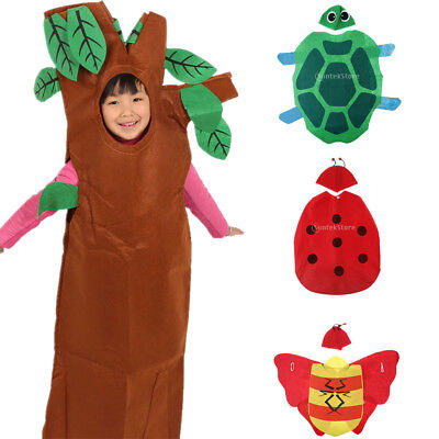 Kids Funny Insects Vegetation Costume Fabric Outfit Forest Party Fancy Dress • 6.85£