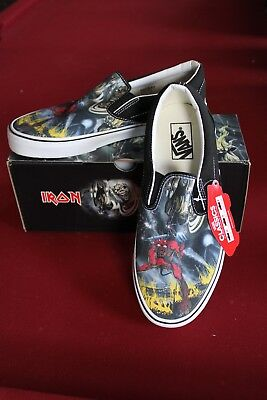 dcb84ce4b3 VANS Iron Maiden NUMBER OF THE BEAST New Classic SLIP-ON SHOES Rare  Metallica •
