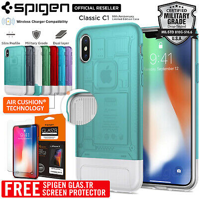AU21.99 • Buy For IPhone X Case SPIGEN Dual Layer Air Cushion Classic C1 Limited Edition Cover
