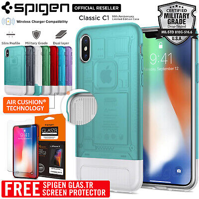 AU39.99 • Buy SPIGEN Dual Layer Air Cushion Classic C1 Limited Edition For IPhone X Case