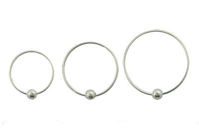 AU2.90 • Buy 1 Or 2 CBR Sterling Silver Fixed Hoop Ring 22g Nose Lip Ear 7mm  9mm 11mm #B29