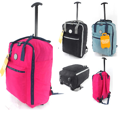 £17.99 • Buy 18  Cabin Approved Bag Wheeled Carry On Flight Luggage Trolley Case Bag Backpack