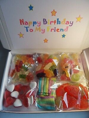 Personalised Birthday Gift Haribo Sweets Gift Box Hamper Mum Dad Friend Uncle • 5.99£
