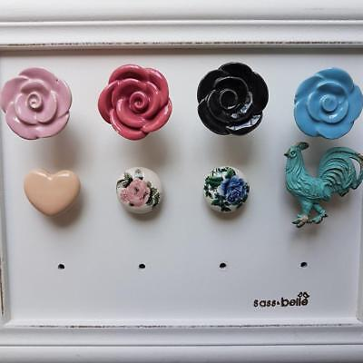 Assorted Cupboard Knobs Pulls Rose Floral Heart Chic N Shabby Drawer Pulls • 3.75£
