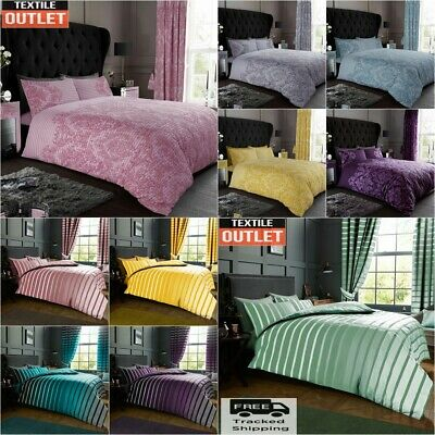 £16.85 • Buy Duvet Cover With Pillow Case Quilt Cover Bedding Set Single Double King All Size