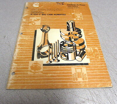 AU25.95 • Buy Cummins N-855-C-Big Cam-Komatsu Parts Catalog Manual 3653000