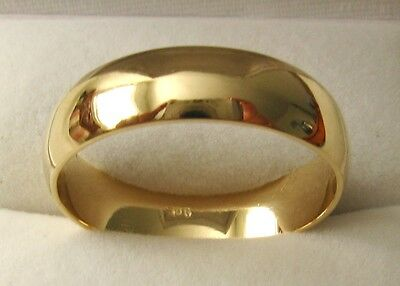 AU350 • Buy 6 Mm GENUINE 9K 9ct SOLID GOLD WEDDING BAND RING Size  N/7 To Z+2/14