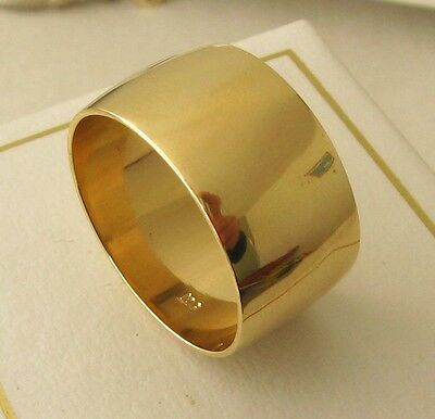 AU450 • Buy 10 MM 9K 9ct FULL SOLID GOLD WIDE WEDDING BAND DOME RING Size O/71/2 To Z /13