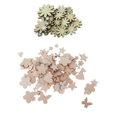 Wooden MDF Assorted Shapes Hearts, Butterfly, Flower,Scrapbooking Craft, 150 • 4.99£