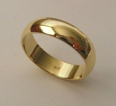 AU280 • Buy 5 Mm GENUINE 9K 9ct SOLID GOLD WEDDING BAND RING Size  N/7 To Z+2/14