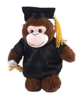$ CDN23.82 • Buy 12  Plush Monkey In PERSONALIZED Graduation Outfit Plush Toys Stuffed Animals