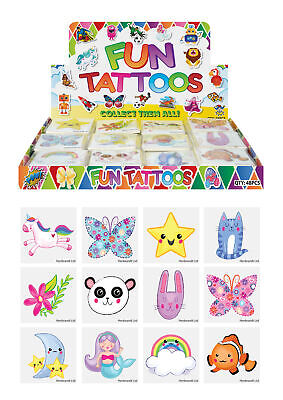 £2.09 • Buy 72 Cute Temporary Tattoos - Pinata Toy Loot/Party Bag Fillers Wedding/Kids