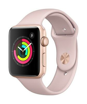 $ CDN502.02 • Buy Apple Watch Series 3/ 42mm – GPS+Cellular- Gold With Pink Band – Aluminum/Steel