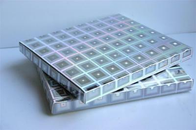 £5.99 • Buy HOLOGRAPHIC Small Silver GIFT BOXES CD Size Postal Gift Jewellery 12 X14 X 1.4cm