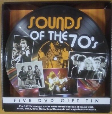 Sounds Of The 70's 70s - 5 DVD Gift Tin NEW & Sealed Free UK Postage • 15.29£