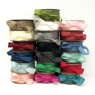 Bertie's Bows 100% Pure Silk 13mm Ribbon - Sold By The Metre Or By The 50m Roll • 1.25£