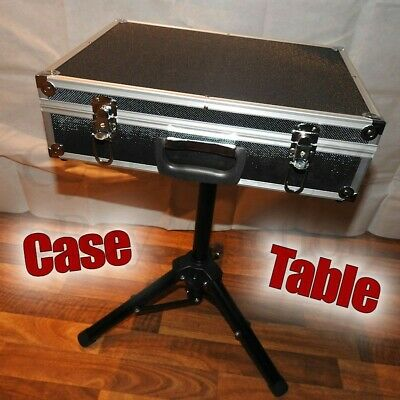 Case Table Magician Clown Stage Black Briefcase Prop For Magic Trick Entertainer • 100£
