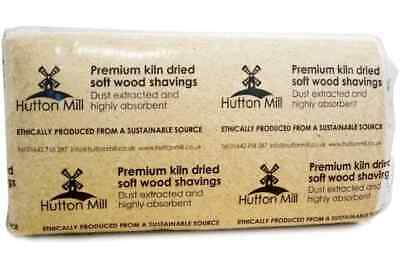 Bale Of Shavings 100% Virgin Softwood Highly Absorbent Approx 24Kg  Sawdust Wood • 17.50£