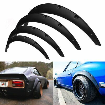 $42.65 • Buy 4Pcs JDM Universal Fender Flares 50mm/75mm Wide Body Kit Wheel Arches Durable PU