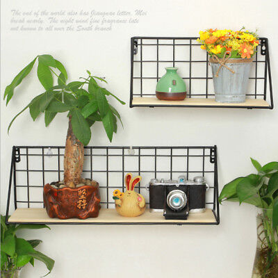 Iron Wall Shelf Window Box Float Planter Box Support Holder Stand Black S • 11.04£