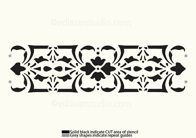 Border STENCIL Lace Paint Furniture Wall Wood Template Card Making Reusable BA9 • 8.49£