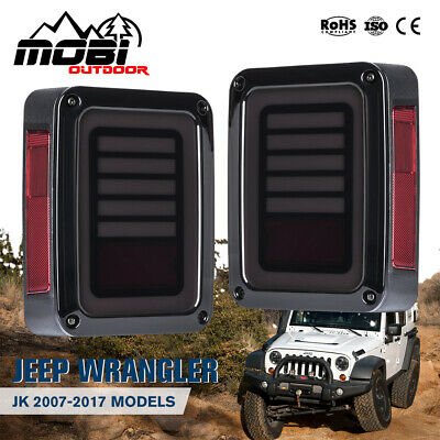 AU89.99 • Buy Pair LED Tail Lights Smoked Black Signal Reverse OEM Jeep Wrangler JK 07-17