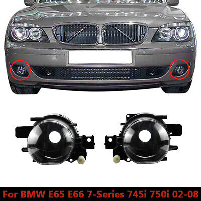 $34 • Buy Clear Fog Driving Lights Pair For BMW 7 Series E66 2002-2008 730d 740d 745d CAO